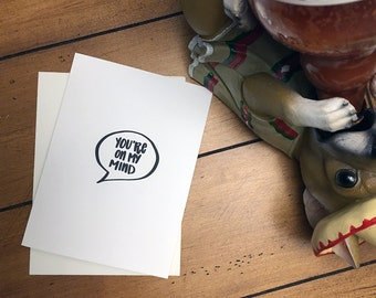 You're On My Mind Like A Taco Around Lunchtime - Greeting Card