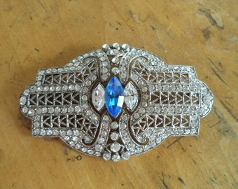 Art Deco Crystal Rhinestone Brooch