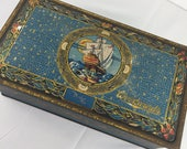 Woodwards Trinket Tin, Canco Tin, Inner Circle Candies, Chocolate Box, Ship, Vintage