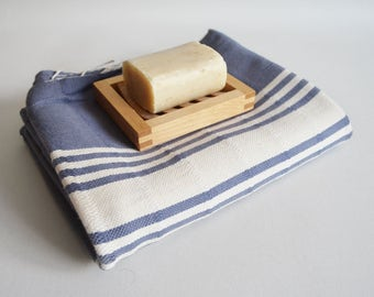SALE 50 OFF/ Turkish Beach Bath Towel Peshtemal / No7 Blue Gray / Bath, Beach, Spa, Swim, Pool Towels