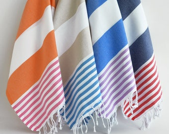 NEW / SALE 50 OFF/ Select a Color / Turkish Beach Bath Towel / Classic Towels