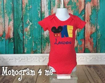 Mickey Mouse 1st birthday shirt bodysuit - ONE Mickey Mouse - Disney Shirt