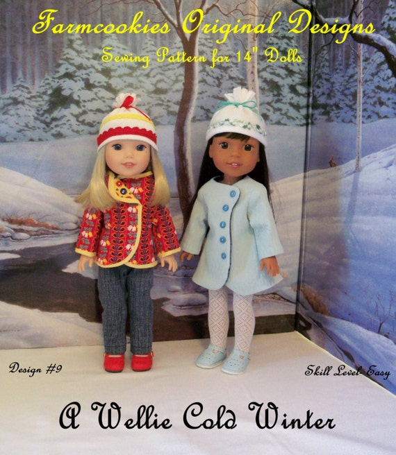 Wellie Wisher® Size PDF Sewing Pattern: A Wellie Cold Winter/ Sewing Pattern fits American Girl  Wellie Wishers®