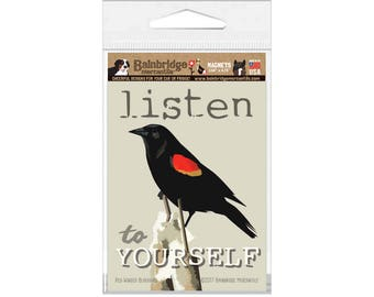 "Red-Winged Blackbird - Magnet 3.56"" x 4.75"""