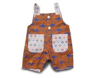 Boys Kangaroo Romper, 2yr Boy Birthday Gift, Batik Boys Romper, Toddler Jumpsuit Kangaroo, Batik Romper