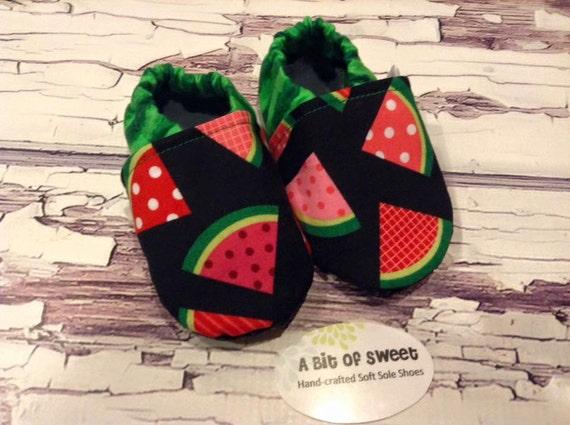 Watermelon Soft Sole Shoes Size 6-12m