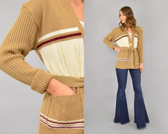 70's Wrap Cardigan Sweater