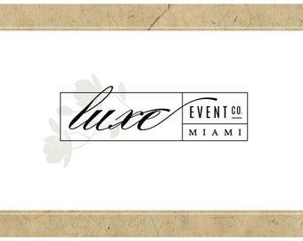 Custom Logo Design - PreDesigned Logo PreMade Logo Vector Logo - OOAK Logo - LUXE Logo Branding - Modern Logo - Elegant Logo - Flower Logo
