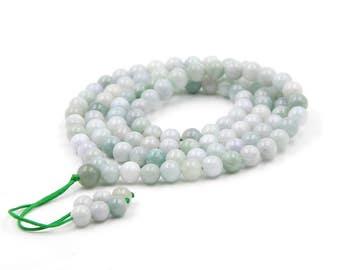 Tibetan Buddhist 108 8mm Prayer Beads Mala Necklace  ZZ422