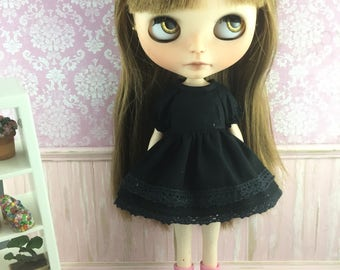 Blythe Dress with sleeves  - Little Black Dress