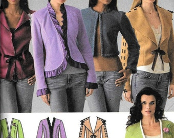 Simplicity 4029 Jacket Sewing Pattern 5 Variations UNCUT Plus Size 14, 16, 18, 20 and 22