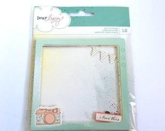 American Crafts Dear Lizzy Polka Dot Party Die Cut Frames