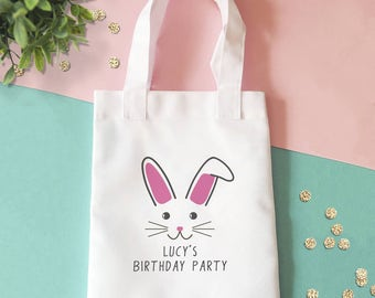 Cute Bunny Party Bag Personalised