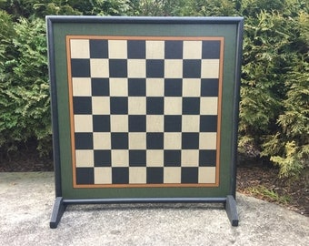 """23"""", Chess, Chess Board, Large Chess Board, Game Board, Wood, Game Boards, Wooden, Hand Painted, Large Blocks"""