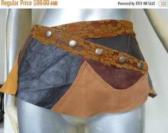 """20%OFF steampunk bohemian gypsy leather  belt...32"""" to 40'' hips or waist..."""