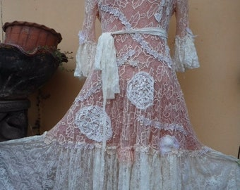"20%OFF bohemian gypsy lagenlook boho dress ...smaller to 36"" bust"