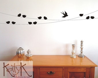 Birds on a Wire - Vinyl Wall Art