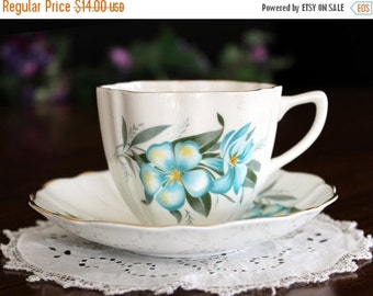 1960s Teacup Tea Cup and Saucer by Hamilton Bone China, Made in England 13700