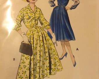 "Vintage Butterick 8533 Shirt Dress Sewing Pattern 36"" Bust 1960s"