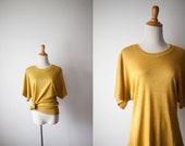70s Gold Lurex Disco Shimmer Blouse // Vintage Womens Clothing // Christmas New Years