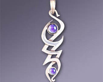 70% OFF CLEARANCE SALE! Selah Tribal Celtic Pendant with Amethyst - Unique Handmade
