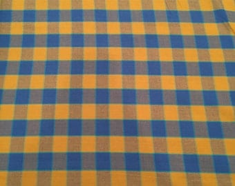 Checkerboard in blue, artisan collection by kaffe fassett for Free Spirit Fabrics 1/2 yd