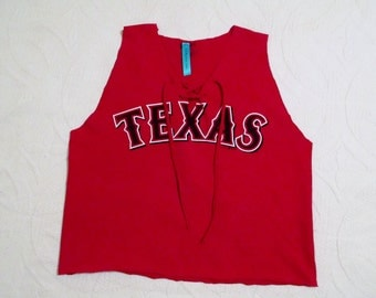 Vintage Tee Shirt Texas Rangers Game Day Top - Tailgate in Style FREE SHIPPING