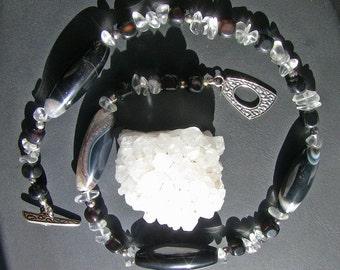 Offset Druzy Necklace