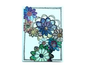 Paper Flower Garden Series on White (PFGW-0007)