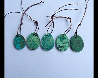 5 pcs Gemstone Turquoise Pendant Set,Oval Pendant Bead Set,20x15x3mm,17x13x3mm,7.7g(c0007)