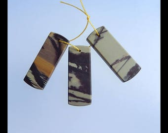 3 PCS Chohua Jasper Gemstone Pendant Set,34x13x3mm,11.6g(d0026)