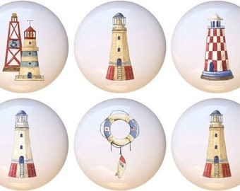 Lighthouse knobs | Etsy