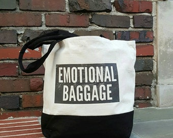 Emotional Baggage Canvas Tote Bag
