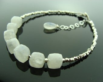 Rainbow Moonstone 925 Sterling Sliver Bracelet