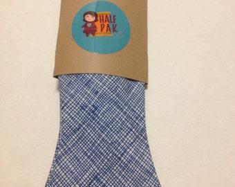 Handmade Adjustable Men's Bow Tie in Blue Crosshatch, bow tie for men, gifts for him, gifts for men, groomsmen tie, wedding tie, men bowties