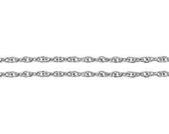 Chain, Rope, Sterling Silver, 1.2mm - 5 ft Wholesale Price (11583-5)/1