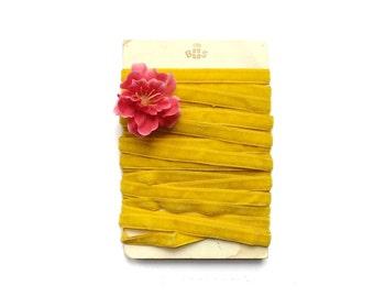 Mustard Yellow Velvet Ribbon