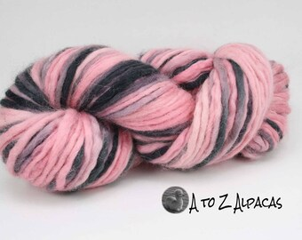 Alpaca Pencil Roving Hand Dyed Unspun Thick Yarn