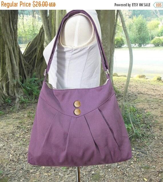 March Sale 10% off purple cross body bag / messenger bag / shoulder bag / diaper bag  - cotton canvas