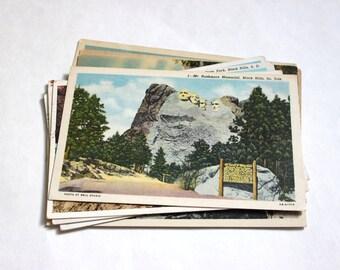 10 Vintage Black Hills South Dakota Postcards Used