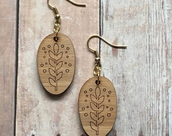 Gorgeous bamboo vine earrings