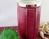 Vintage Tiki Mug Trader Vics Red Port Light Drink Glass 1979 Bar Restaurant Ceramic Pottery Cocktail Vessel