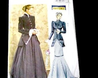 Pattern Fashion History, size 16-18-20-22, Butterick B4954 pattern, victorian dress pattern, Edwardian dress pattern,  early 20th century
