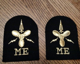 British Navy Missile Engineer Badges - Patches - Electical Propeller Astronaut Space Ship Techie Engineering