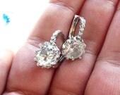 Wedding Earrings, Clear Earrings, Wedding Idea, Wedding Earrings, Crystal Earrings, Clear Hoops, Crystal Hoops, Earrings, Crystal Hoop