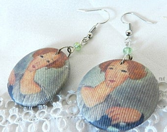 Earrings in fabric, Modigliani
