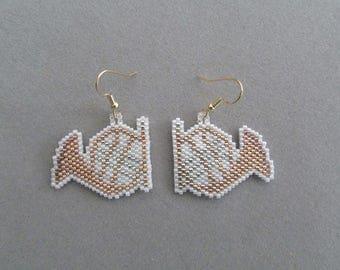 Beaded French Horn Earrings