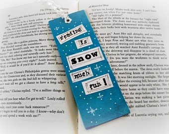 Winter Bookmark, Snowman Bookmark, SALE Buy 2 Get 1, Gifts for Bookworms, Under 20 Gift, Snow Bookmark, Reading Accessory,Reading Bookmark