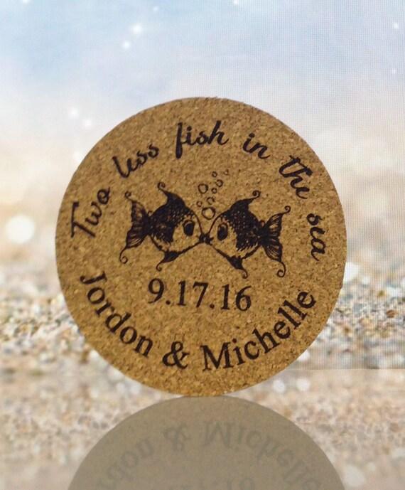 Cork Wedding Favors: Wedding Favor Cork Coasters 100 Cork Drink Coasters Custom
