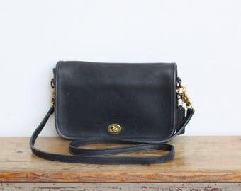 Vintage Coach Bag // Coach Crossbody Bag // Coach Pocket Purse Navy 9755